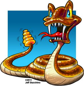 cartoon rattlesnake