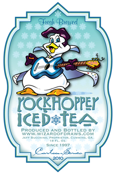 Cartoon Drink Label Rock Hopper Iced Tea