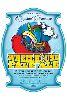 Cartoon Drink Label Wheelhouse Pale Ale